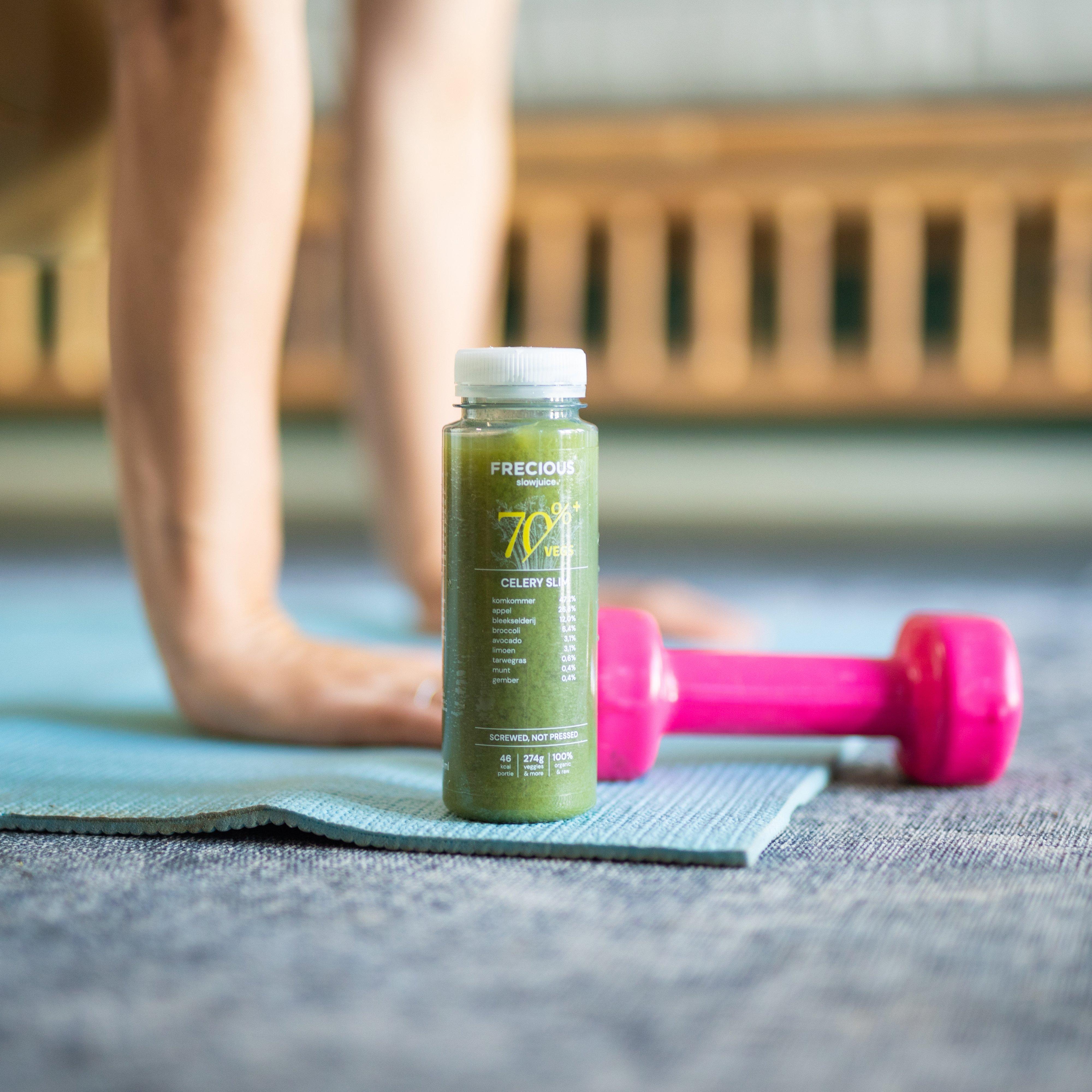 Work out, celery, juice